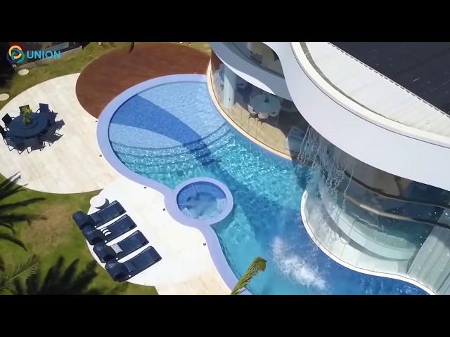 Hồ bơi thác nước massage thư giãn đẹp sang trọng | UNION JSCO
