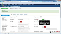 12 - Il menu Sistema - Configurazione globale - Scheda sito parte III