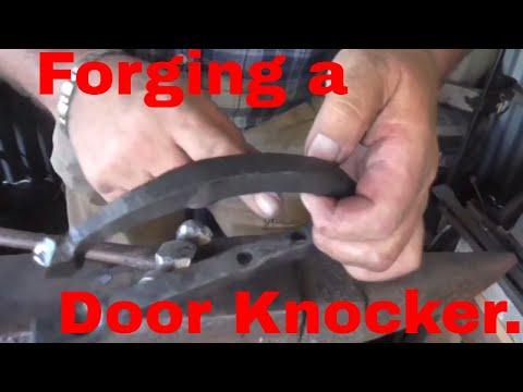 Forging a door knocker short version