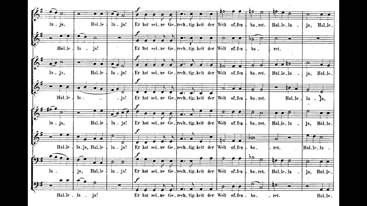 1 Weihnachten.Mendelssohn 6 Motets Op 79 1 Weihnachten