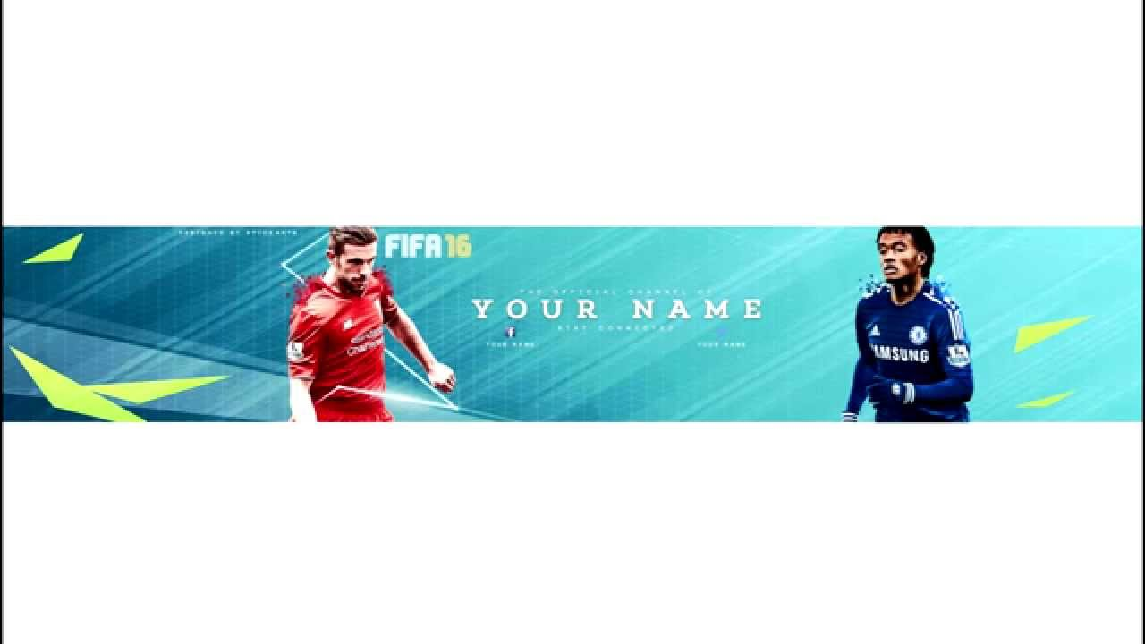 Fifa 16 Youtube Banner Template Youtube