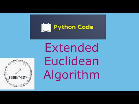 Extended Euclidean Algorithm example from YouTube · Duration:  8 minutes 47 seconds