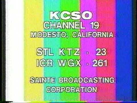 KCSO channel 19 Modesto sign-off from 1985
