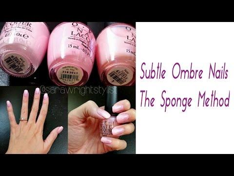 Subtle Ombre Nails | The Sponge Technique