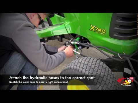 john deere loader hook up