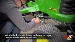 How To Attach a John Deere 47' Snow Blower