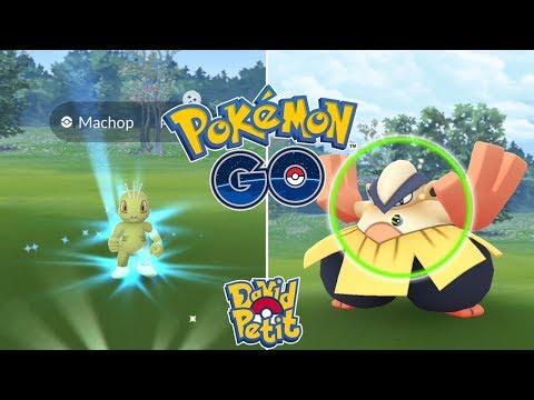 MACHOP SHINY, CAPTURAS ÉPICAS DE LUCHA Y HUEVOS ALOLA EN EL EVENTO! [Pokémon GO-davidpetit] thumbnail