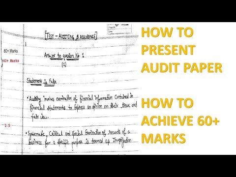 Highest Marks Answer Sheet Presentation | How To Achieve 60+ Marks | Audit | Intermediate Audit