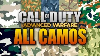 ALL Gun Camos in Call of Duty: Advanced Warfare! (COD AW Multiplayer Weapon Camo)