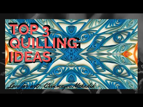 Top 3 quilling ideas   Quilling Paper craft   Quilling jewelry
