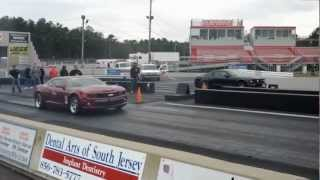 Mustang vs Camaro vs Challenger Heads Up Race at Atco Raceway
