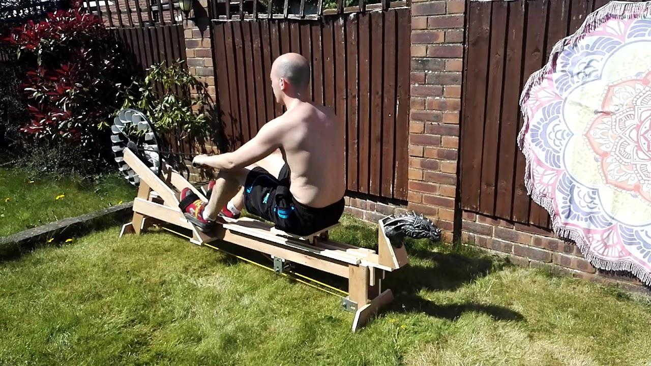 Home Built DIY Rowing Machine (Ergo