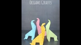 Origami For Kids: Make An Easy Origami Giraffe