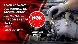 Remplacement des bougies de préchauffage sur moteurs 1.9 CDTI 8V Saab, Opel, Fiat, Alfa Romeo