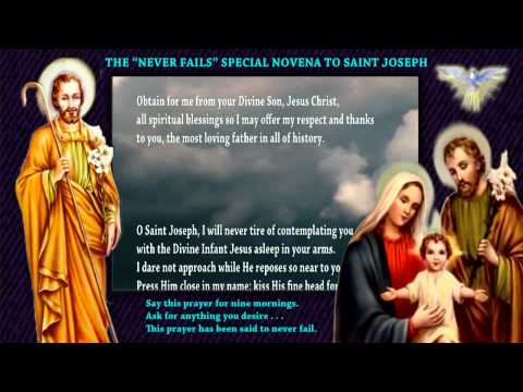 "THE ""NEVER FAILS"" SPECIAL NOVENA TO SAINT JOSEPH"