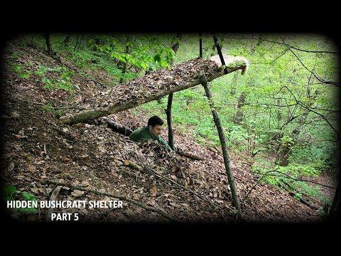 SECRET BUSHCRAFT SHELTER HIDDEN UNDERGROUND - Part 5 - Building A Bed Underground - HD Video