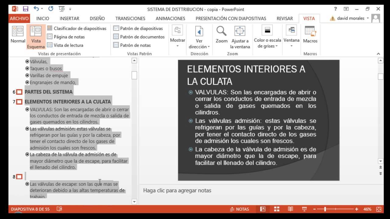 Como copiar texto de varias diapositivas en PowerPoint