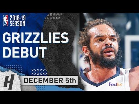 Joakim Noah Grizzlies DEBUT Full Highlights vs Clippers 2018.12.05 - 4 Pts, 3 Rebounds!