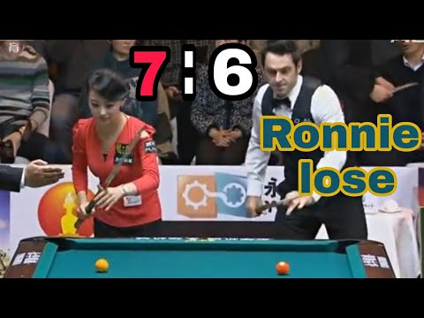 Ronnie lose woman ( Pan Xiaoting ) playing pool