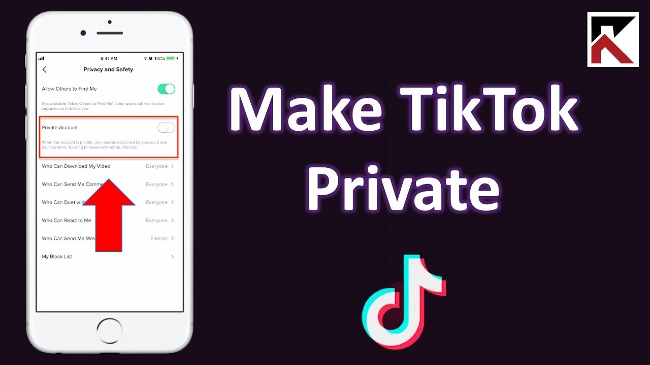 How To Make Your Tiktok Account Private Youtube