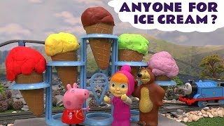 peppa pig play doh ice cream surprise eggs thomas and friends cars masha and the bear cinderella