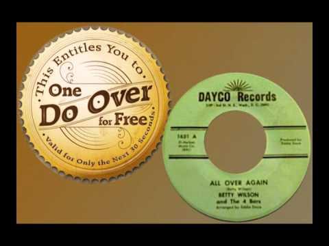 BETTY WILSON & THE 4 BARS - All Over Again (1967)