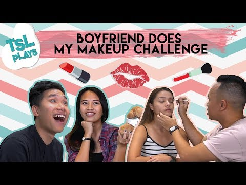 TSL Plays: Extreme Boyfriend Does My Makeup Challenge