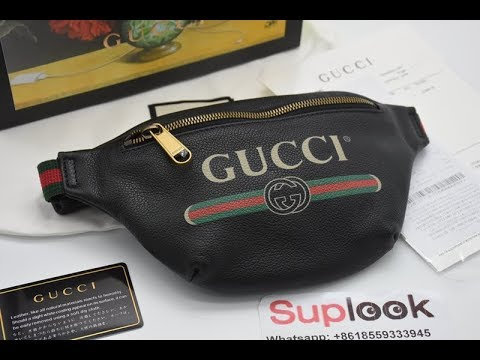 Gucci Print Small Belt Bag Black