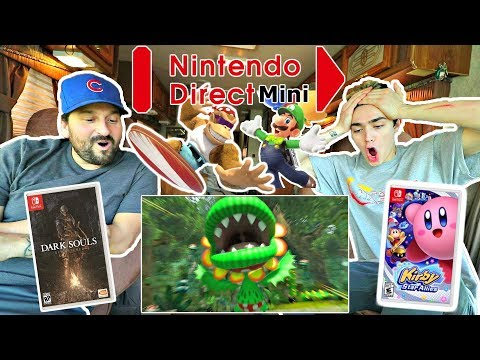 LIVE Nintendo Direct Mini REACTION HIGHLIGHTS!! [Mario Tennis Aces, DK, Dark Souls Switch]