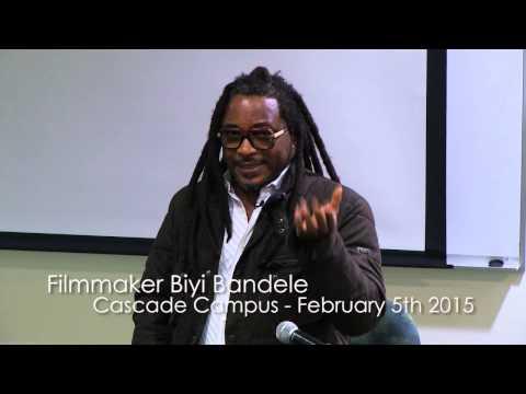 Biyi Bandele at Portland Community College - 2015