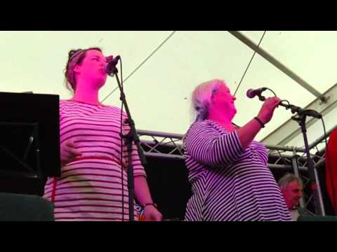 Fishwives Choir Singing Drunken Sailor At Newquay Fish Festival 2014