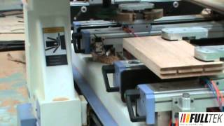 Fulltek Professional Cnc Ltd., - Cnc Machining Center - 9 Pieces Wood Solid Door Processing.mpg