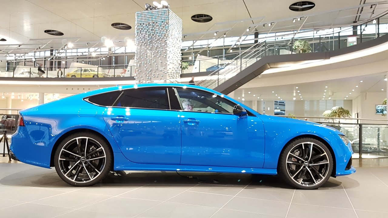 Audi Rs7 Sportback Performance In Voodoo Blue Lights