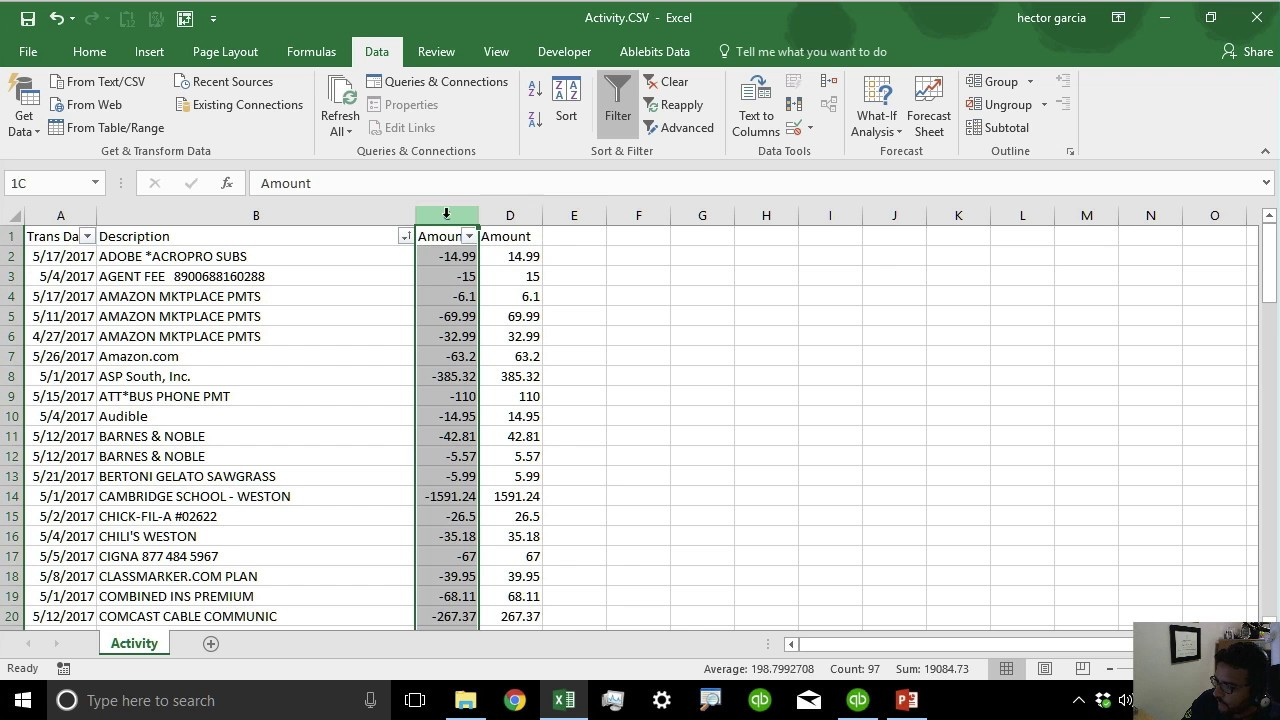 Importing Bank Transactions into QuickBooks from PDF or CSV Bank Statements