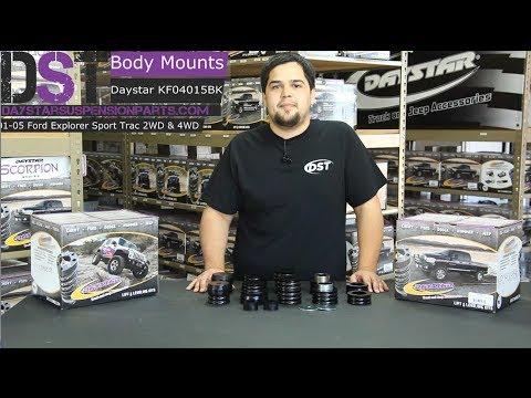 Daystar Kf04015bk Body Mounts Ford Explorer Sport Trac