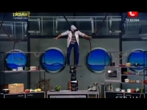 Amazing balancing act on Ukraine's Got Talent