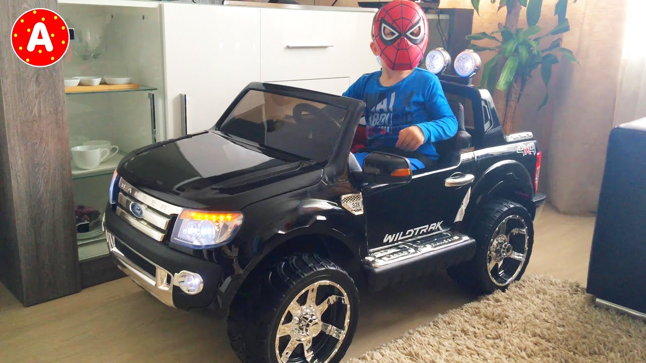 Ford Ranger New Car Toy Surprise for Spider-Man LittleBoy Adam - YouTube