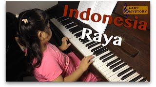 "Talented Pianist! 5-Year-Old Girl Playing ""Indonesia Raya"" Song"