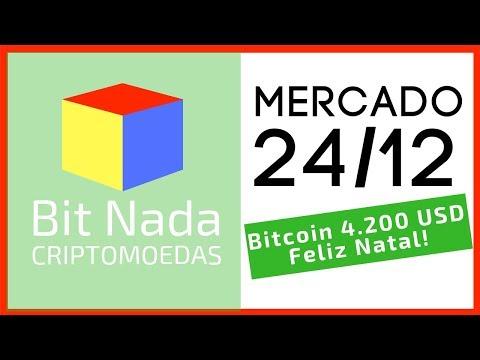 Mercado de Cripto! 24/12 Feliz Natal! Bitcoin 4.200 USD / XRP / ETH