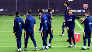 Video FC Barcelona training session: Final training session before Celta clash download MP3, 3GP, MP4, WEBM, AVI, FLV Juli 2018