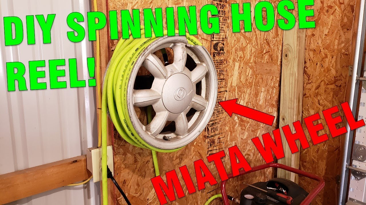 Diy Hose Reel From A Junk Miata Wheel
