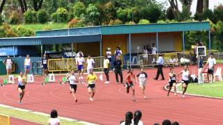 Shanti Veronica Pereira, 100m U18 Girls Heat #2 - 2012 SAA T&F Series 1
