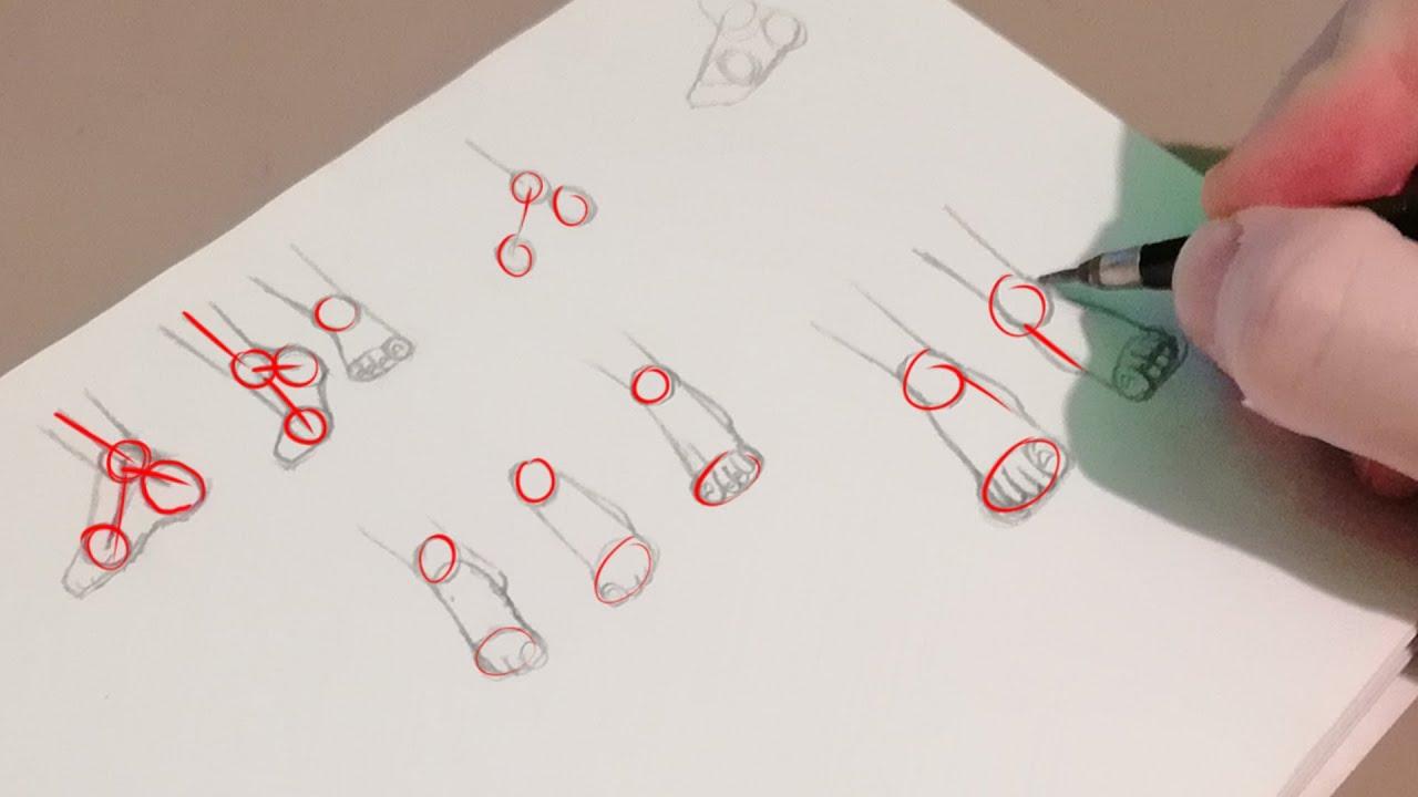 dessiner des pieds facilement tuto