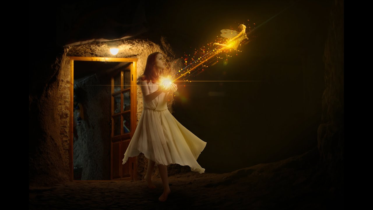 Photoshop Tutorial Lighting Effect Photo Manipulation Finding Fairy