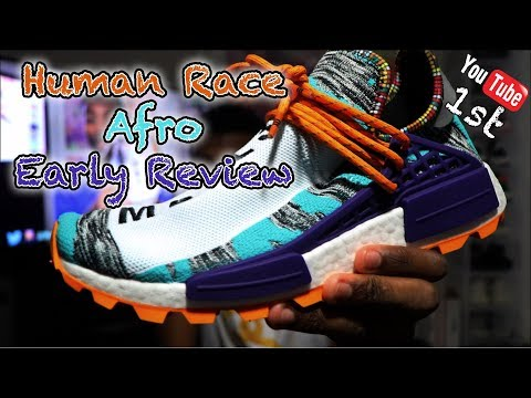 1st ON YOUTUBE| PHARRELL HU NMD SOLAR/AFRO PACK IN HAND REVIEW (BB9528)