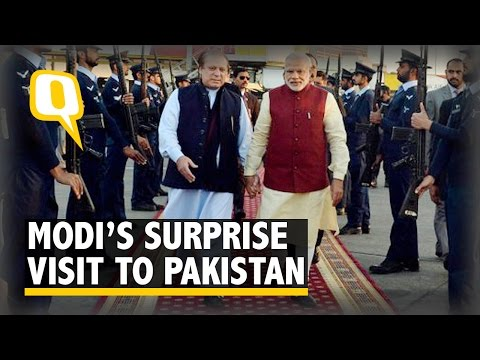 Modi Lands in Pak on Surprise Visit, Meets Sharif on his Birthday