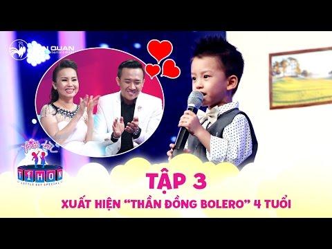 """Biệt tài tí hon   tập 3: """"Thần đồng bolero"""" 4 tuổi """"đốn tim"""" khán giả với giọng hát ngọt ngào"""
