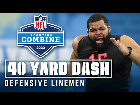 Defensive Linemen Run The 40-Yard Dash At The 2020 NFL Scouting Combine