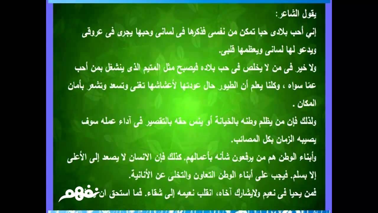 0d3199f0f1df3  حب الوطن - لغة عربية - للصف الثالث الإعدادي - موقع نفهم - موقع نفهم -  YouTube