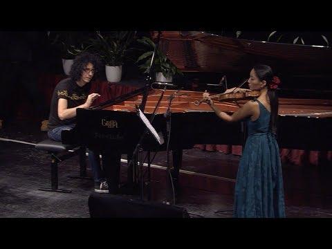 Giornata della Ricerca: duetto tra Giovanni Allevi e Lena Yokoyama (violino Stradivari Lam).